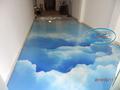 3Д подове - полиуретанов 3Д под в заведение.